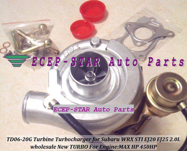 NEW TD06 20G TD06-20G Turbo Turbine Turbocharger For SUBARU Impreza WRX STI Engine: EJ20 EJ20T EJ25 2.0L MAX Power 450HP