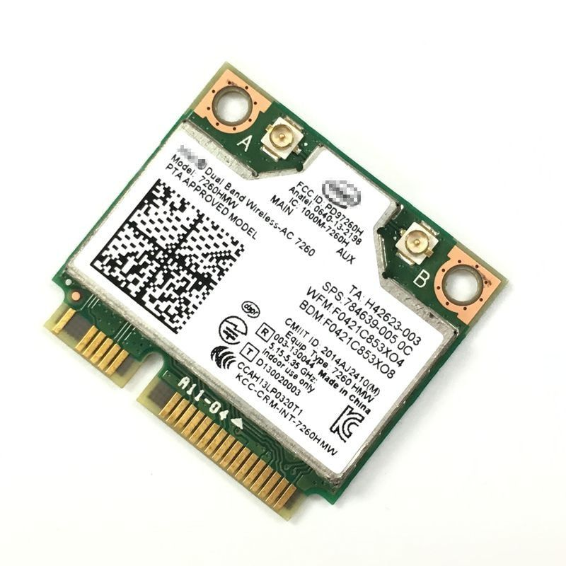 Double bande 7260AC 7260HMW 802.11ac sans fil AC + Bluetooth BT4.0 sans fil wifi demi-Mini carte PCI-E