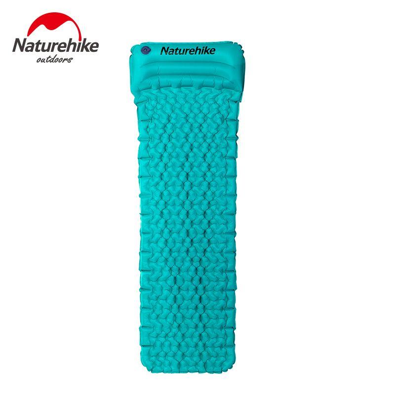 Sleeping Mat Ultralight Moistureproof Ground Mat With Pillow Air Mattress Outdoor Bed Tent Camping Mats Mouth Blow Inflating