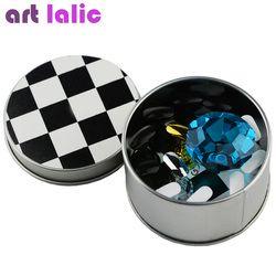 Nail Art Papan Catur Magnetic Ujung Kuku Kristal Berdiri 10 Pcs Set Salon Mewah Tampilan Pemegang Alat