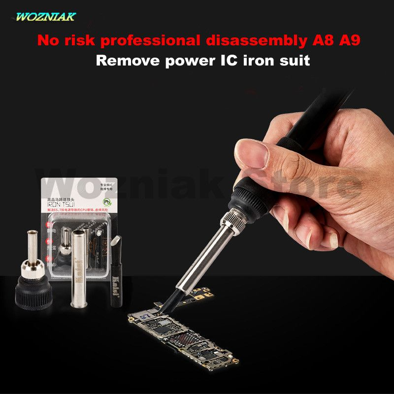 Wozniak Risk-free Disassemble For iPhone 6G 6S A8 A9 Desoldering Power split IC chip iron head Free Shipping