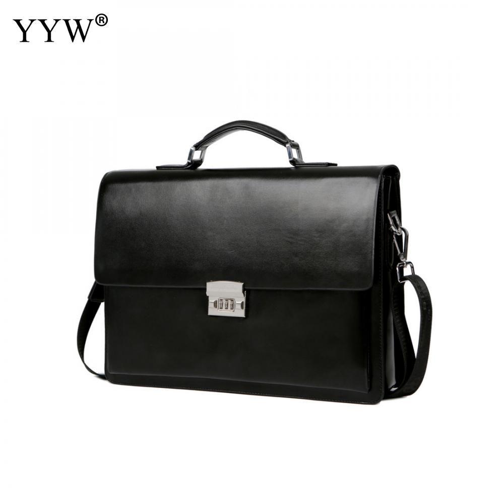 Männer Executive Aktentasche Business Männlichen Tasche Schwarz Portfolio Taschen für Männer Ein Fall für Dokumente Klassische Pu-leder handtasche
