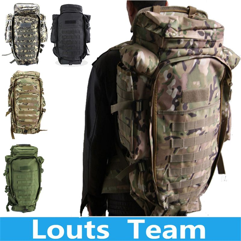 2018 100% Men Women Military Tactical Hiking Rifle Bag Trekking Travel Camping Outdoor Sport Backpack Rucksacks Climbing Bags