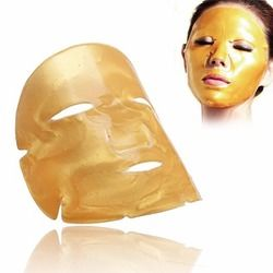 QBEKA Golden Anti-aging Collagen Face Mask Skin Care Deep Moisture Facial Masks Nourishing Brightening for Your Beauty