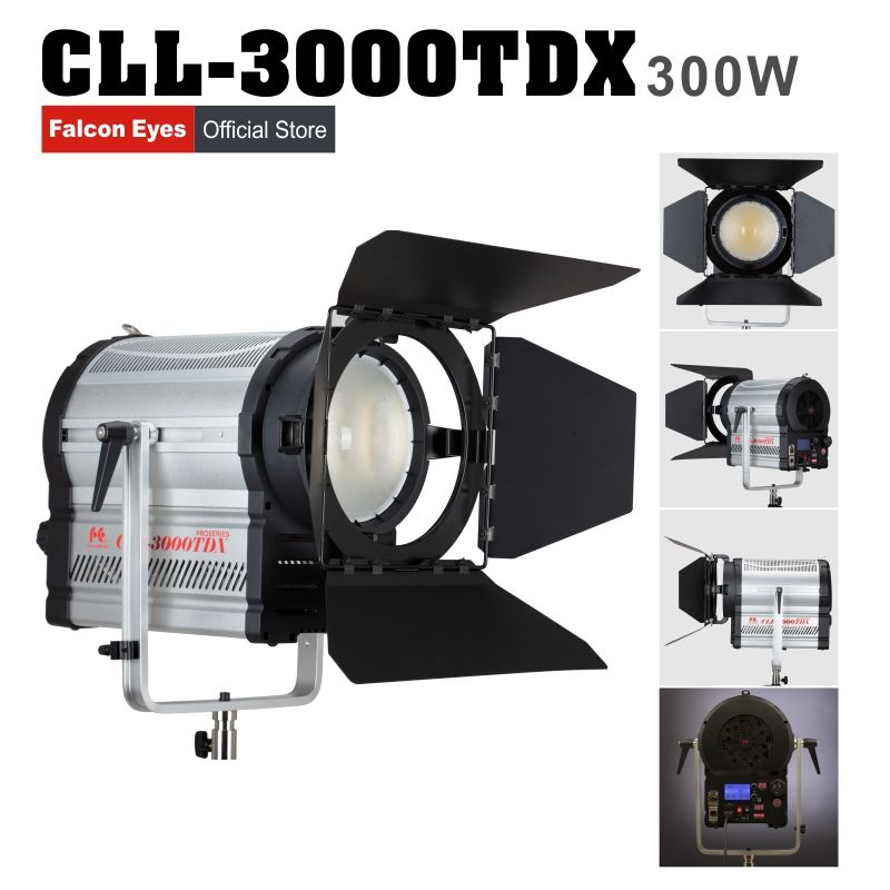 Falconeyes Studio Light Photography Lamp 3000K-8000K Color Temperature Adjustable brightness with LCD&touch panel CLL-3000TDX