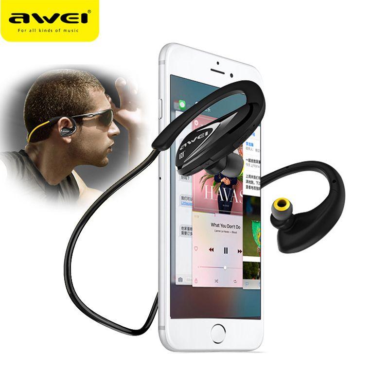 AWEI A880BL Sport casque sans fil Bluetooth écouteurs casque Fone de ouvido pour les téléphones en cours d'exécution dans l'oreille écouteur écouteur