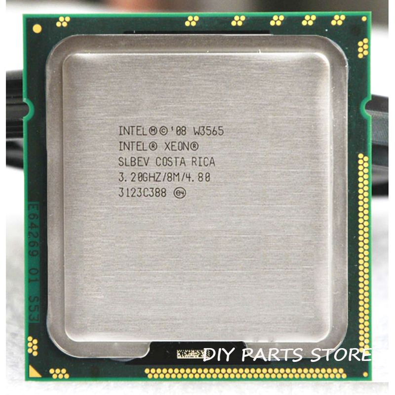 INTEL XONE W3565 Quad core 3.2 MHZ LeveL2 8M 4 core WORK FOR lga 1366 montherboard