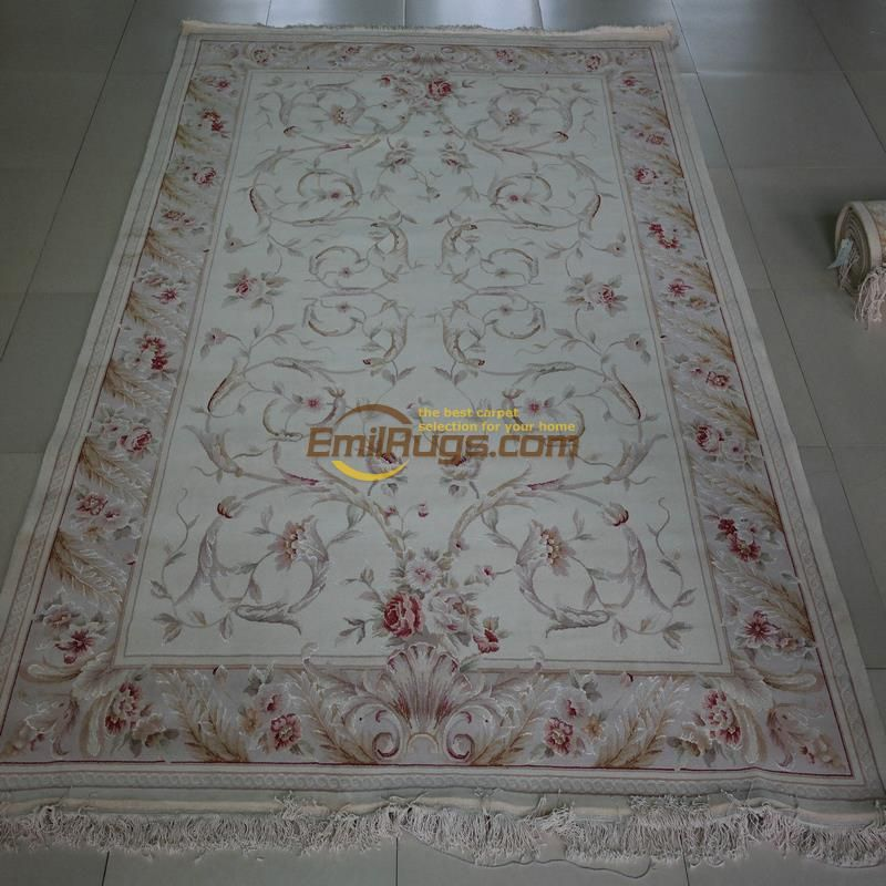 Pure hand knotted silk carpet wool Traditional feng shui buckle craft carpet size European Persian carpet