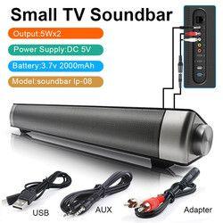 LP-08 TV SoundBar Wireless Subwoof Bluetooth Speaker Enhanced TV Remote Control Soundbar Speaker Card Plugging Bluetooth Speaker