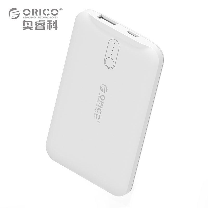 ORICO 2500mAh Mobile Power Bank Portable USB-A 5V1A Charger External Battery Backup Powers for Smart Devices
