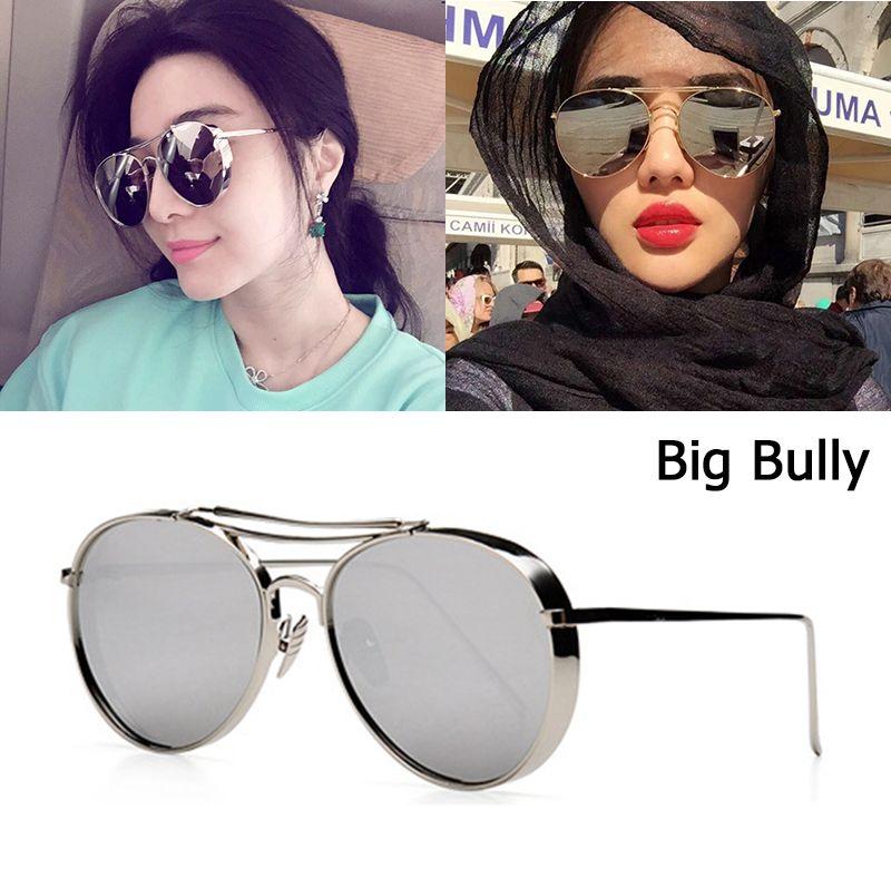 JackJad 2018 nouvelle mode grand Bully Aviation Style lunettes De soleil femmes hommes marque Design épais métal cadre lunettes De soleil Oculos De Sol