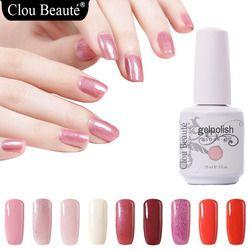 Clou Beaute 15 ml Gel Vernis À Ongles UV Rose Rouge Blanc Noir Soak Off Gel Polish Gel Laque Nail Manucure Vernis Semi Permanent