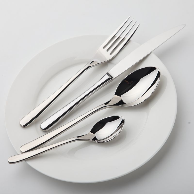 Cozy Zone Dinnerware Set Stainless Steel Tableware Luxury Cutlery Set Vintage Quality 24Pcs Knife Fork Dining Dinner Set Western