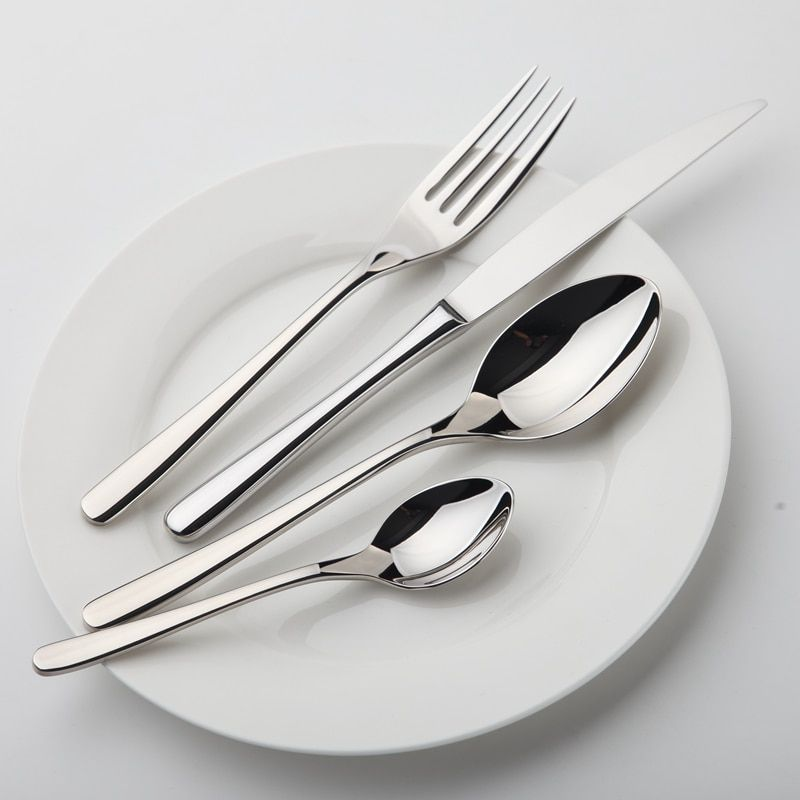 Dinnerware Set Stainless Steel Tableware Luxury Cutlery Set Vintage Quality 24 Pcs Knives Forks Dining Dinner Set Western Food