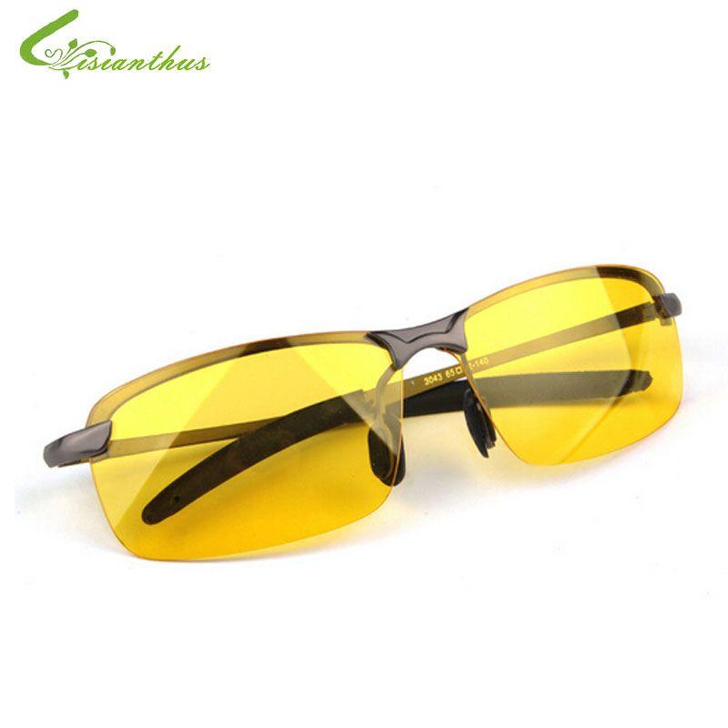 2019 nouveauté lunettes pour hommes voiture pilotes lunettes de Vision nocturne polariseur Anti-éblouissement lunettes de soleil polarisées conduite lunettes de soleil