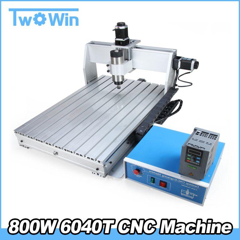 800W MACH3 6040T Mini CNC Machine 3 Axis CNC Engraver Engraving Machine support USB PCB Milling Machine