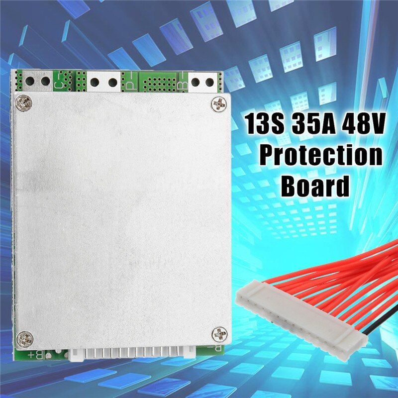 1PC 13S 35A 48V Li-ion Lithium 18650 Battery Pack BMS PCB board PCM w/ Balance Integrated Circuits Board for e-bike ebicycle