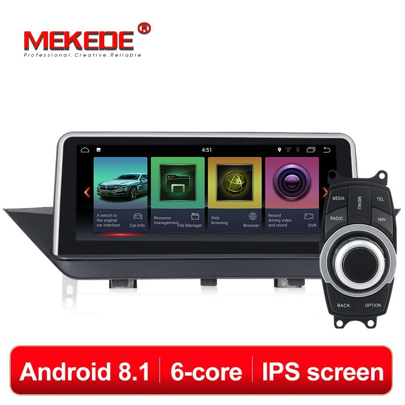 Neue Ankunft! 6 core android8.1 Auto Multimedia player für BMW X1 E84 2009-2015 mit IPS 4g wifi gps navigation multimedia einheit