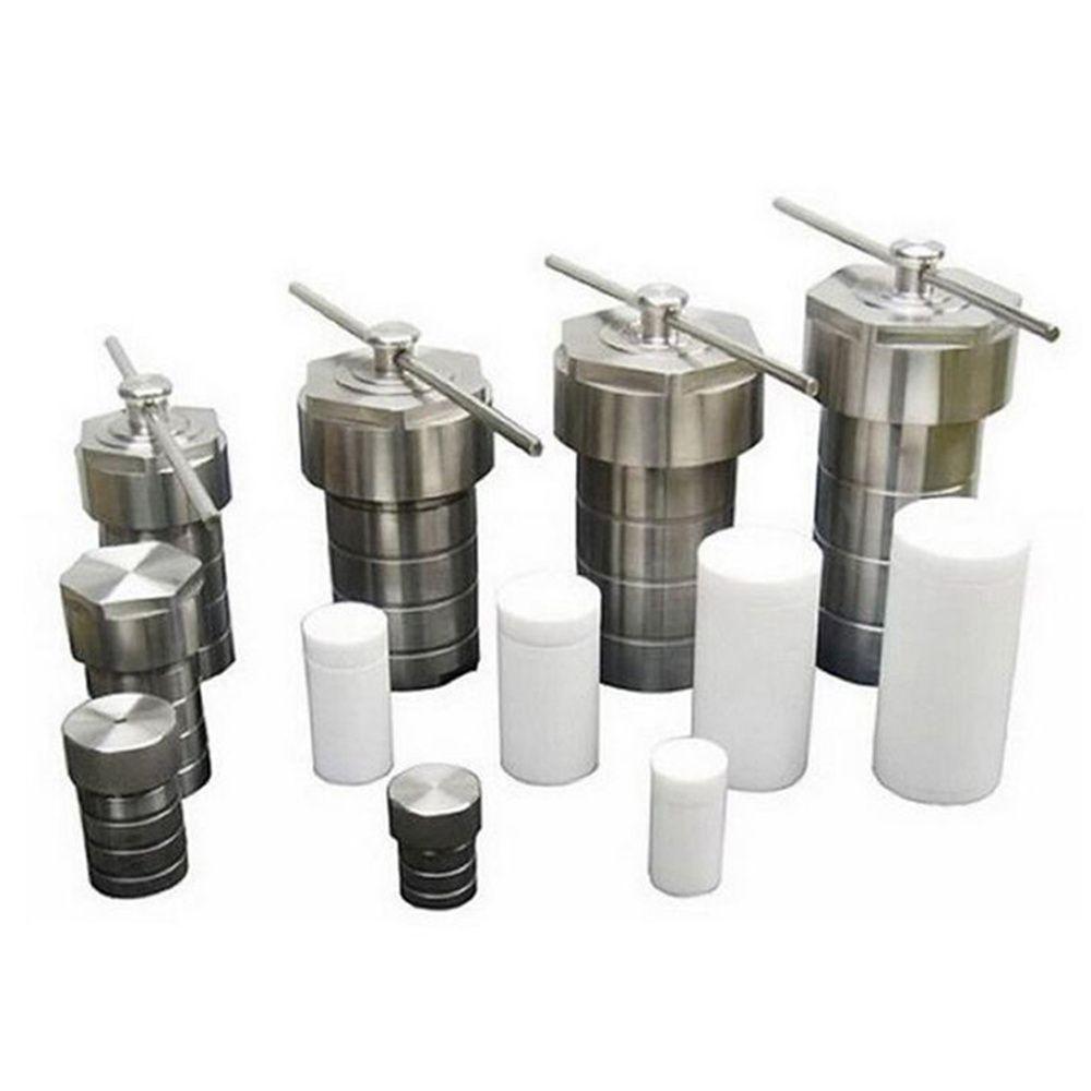 Edelstahl Hydrothermale Autoklaven Reaktor + Teflon Kammer Synthese 10 ml, 20 ml, 25 ml, 100 ml, 200 ml, 300 ml