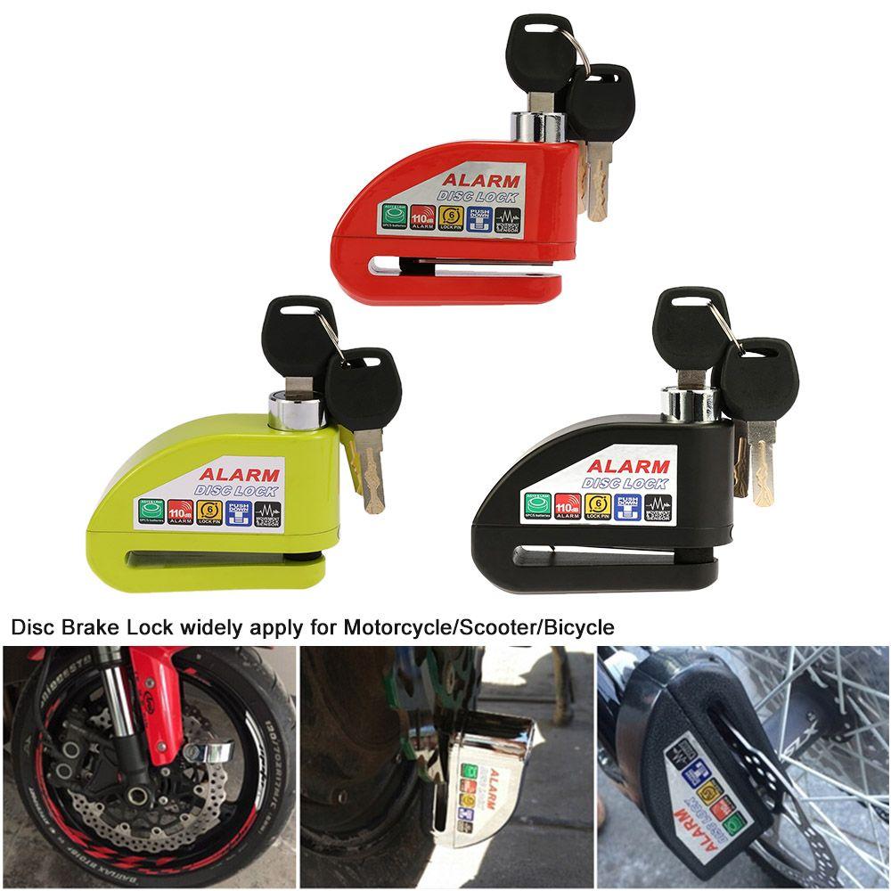 Alarma Moto Black Motorcycle Alarm Anti-theft  Lock Scooter Bicycle Disc Brake Locks Moto Security Anti-Theft Alarm 3 Keys