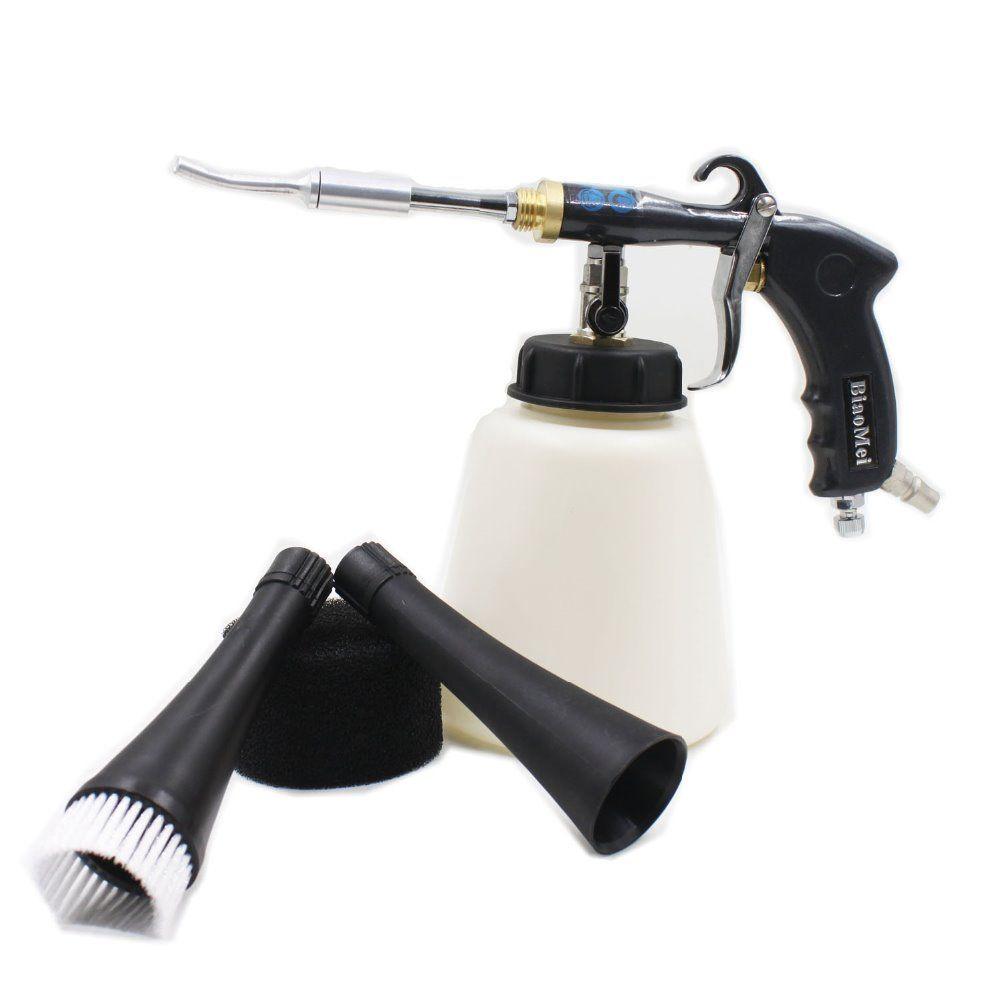 Z-020 air regulator Aluminium japanes steel bearing tube Tornado gun black for car washing tornador gun(1 whole gun+accessories)