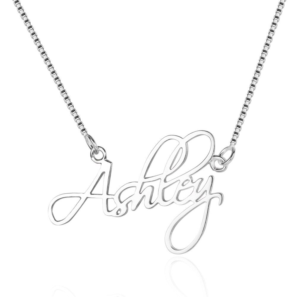Цепочки и ожерелья подвеска стерлингового серебра 925 крошечные индивидуальный заказ Jewelry с любым именем на заказ персонализированные украш...