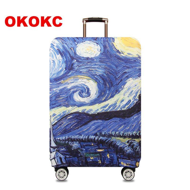 Okokc красочные толстый чемодан Крышка для багажник случае применяются к 18 ''-32'' чемодан, эластичные Чемодан, Туристические товары
