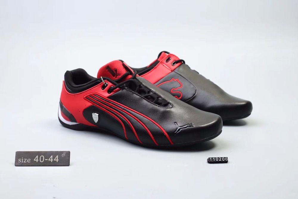 2018Original Puma Future Cat M2 SF Breathable Men's Leather Sneakers Shoes Red/White/Black Badminton Shoes Size40-45