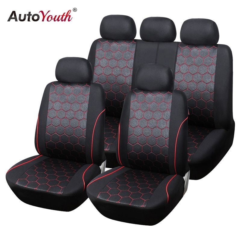 AUTOYOUTH Soccer <font><b>Ball</b></font> Style Car Seat Covers Jacquard Fabric Universal Fit Most Brand Vehicle Interior Accessories Seat Covers
