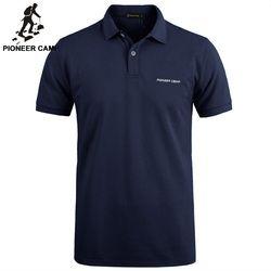 Pionner Camp Marque vêtements Nouveau Hommes Polo Shirt Hommes D'affaires & Casual solide mâle polo chemise À Manches Courtes respirant polo chemise