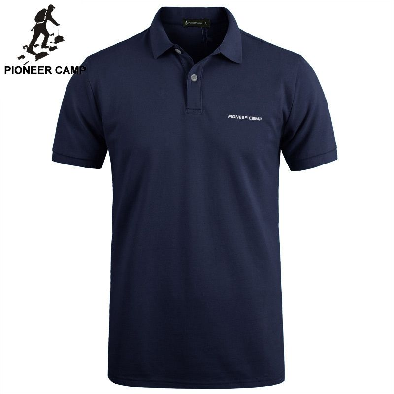 Pionner <font><b>Camp</b></font> Brand clothing New Men Polo Shirt Men Business & Casual solid male polo shirt Short Sleeve breathable polo shirt