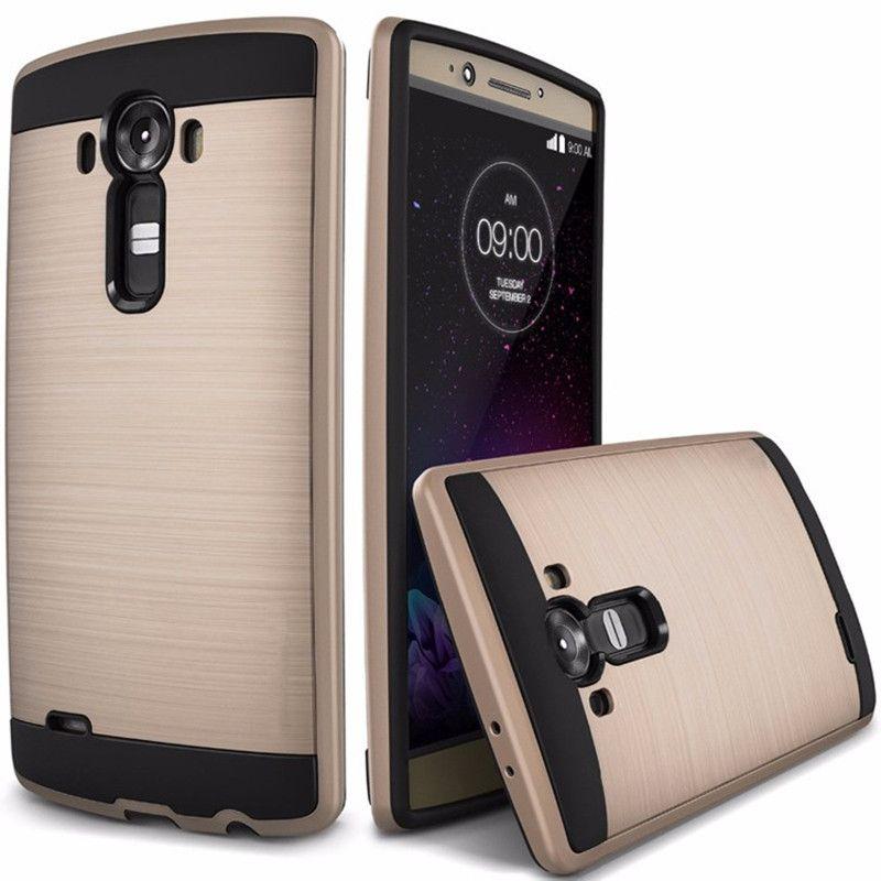 Роскошь жестким тонкий матовый прочный Броня чехол для телефона для LG G4 H815 Гибридный Твердый пластик + мягкий ТПУ противоударный задняя кры...