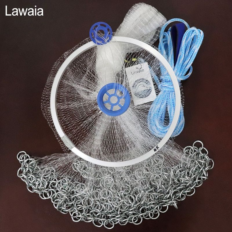 Lawaia Casting Net Amerikanischen Hand Werfen Net Koreanische Kette Hand Werfen Kleine Netz Fischernetz Diamter 2,4 M-4,2 M Hohe Qualität Netze