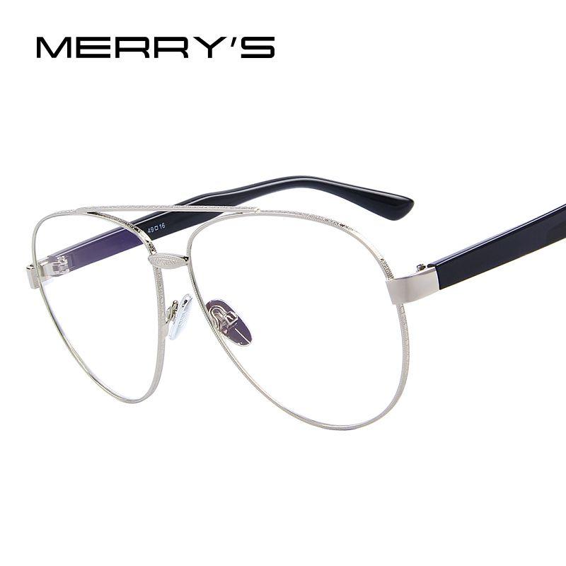 MERRY'S Brand Designer Men/Women Pilot Sunglasses Clear lens S'8083