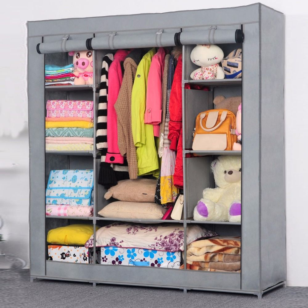 Wardrobe Closet Large Simple Cabinets Simple Folding Reinforcement Receive Stowed Clothes Store