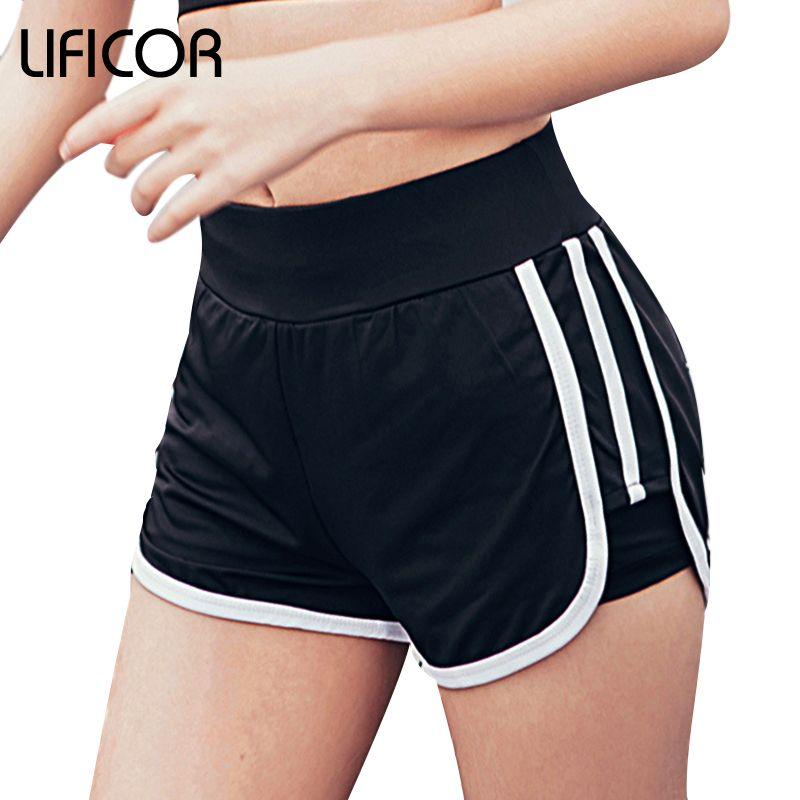 Promotions Femmes Remise En Forme de Sport Courbe Sport Courir Yoga Pour Dames Shorts De Sport Gym Vêtements Sportswea Plus La Taille