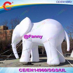 4 m 13ft/6 m raksasa 20ft tinggi/besar tiup gajah putih, ourdoor murni putih gajah tiup untuk iklan