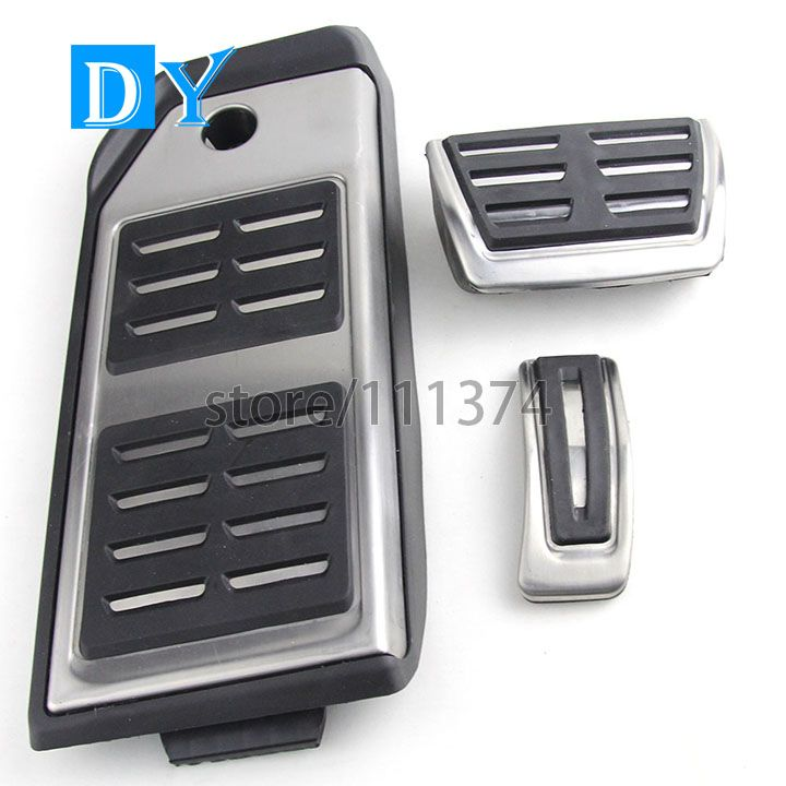 NULLA LHD Stainless Steel Fuel Gas Accelerator Brake Footrest Foot Rest Pedal Pad Plate AT Automatic For Audi Q7 2016