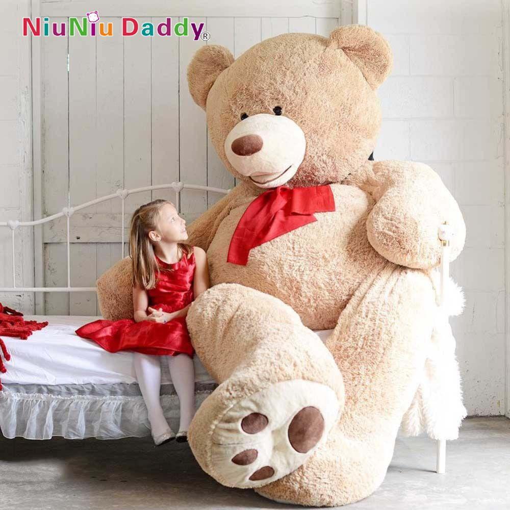 Niuniu papa peaux non rembourrées 200 cm grande taille USA ours en peluche grand ours en peau d'ours géant animaux en peluche peau d'ours