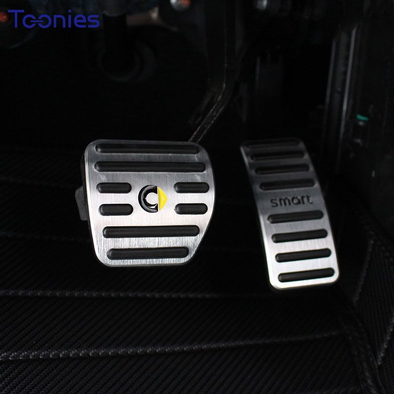 Smart 453 Forfour Fortwo Accelerator Pedal Anti-skid Aluminum Alloy 2Pcs Brake Pedal Plate Manual Pad Car Accessories Styling