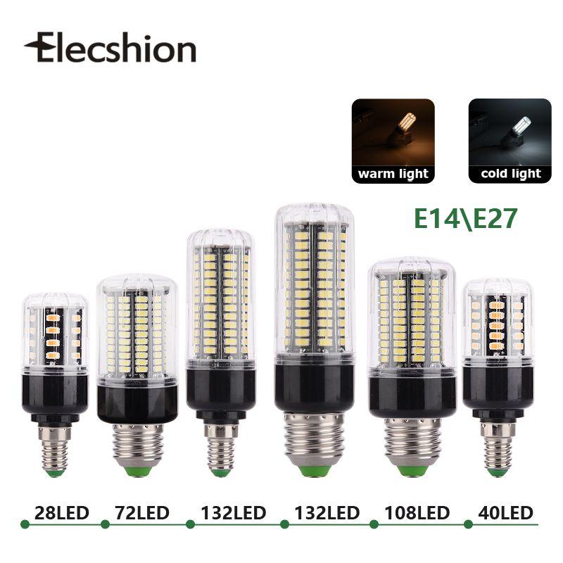 E27 E14 Светодиодная лампа AC220V 110 В SMD5736 лампы 3 Вт 5 Вт 7 Вт 8 Вт 12 Вт 15 Вт Spotlight 48 40 72 108 132 156 светодиодов AC85-265V лампада свет