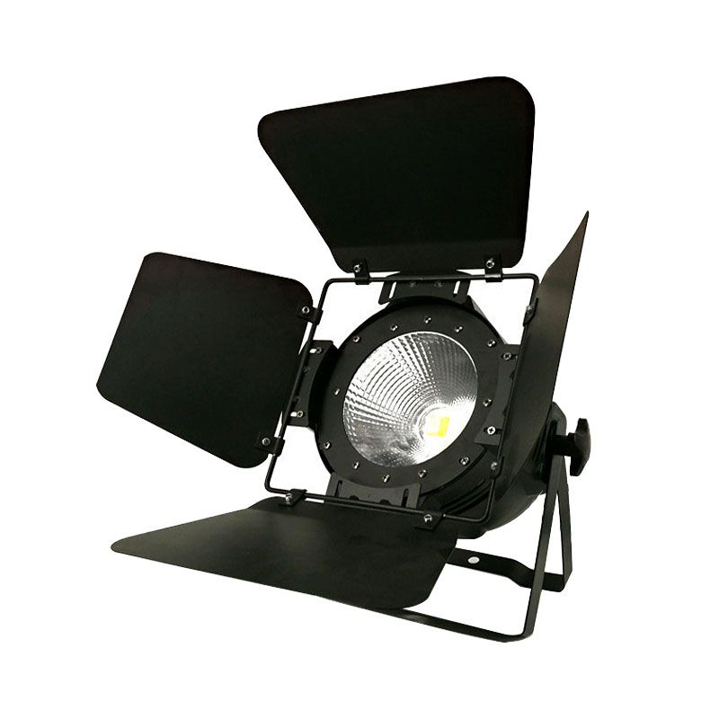 LED Par COB 100W RGBW 4in1 With Barn Doors High Power Aluminium Case Stage Lighting with 100W COB ,cool white and warm white