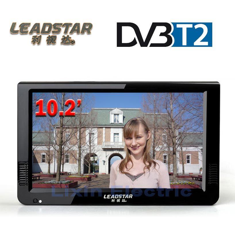 LEADSTAR HD Portable TV 10 Pouce Numérique Et Analogique Led téléviseurs Soutien TF Carte USB Audio De Voiture Télévision DVB-T DVB-T2 AC3