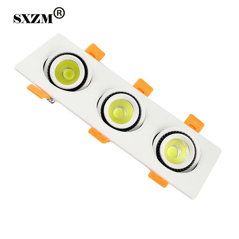 SXZM 15W/21W/27W LED COB ceiling light AC85 -265V rectangle indoor led lamp include led driver white/warm white with CE,RoHS