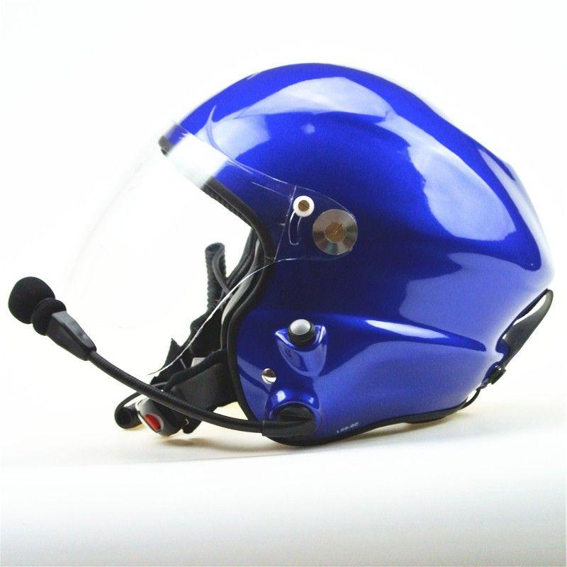 EN 966 certificated Noise cancelling paramotor helmet GD-G Matt black colour free shipping