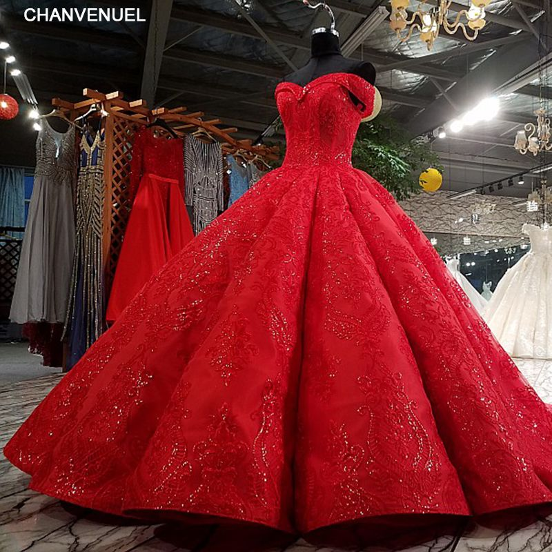 LS3392 red pleat evening dress sweetheart lace flowers lace up back ball gown formal dress vestido longo de festa real photos