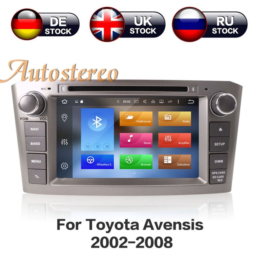Android 8.1 Octa Core Car DVD Player For Toyota Avensis 2002-2008 T250 Car GPS Navigation Stereo multimedia auto radio head unit