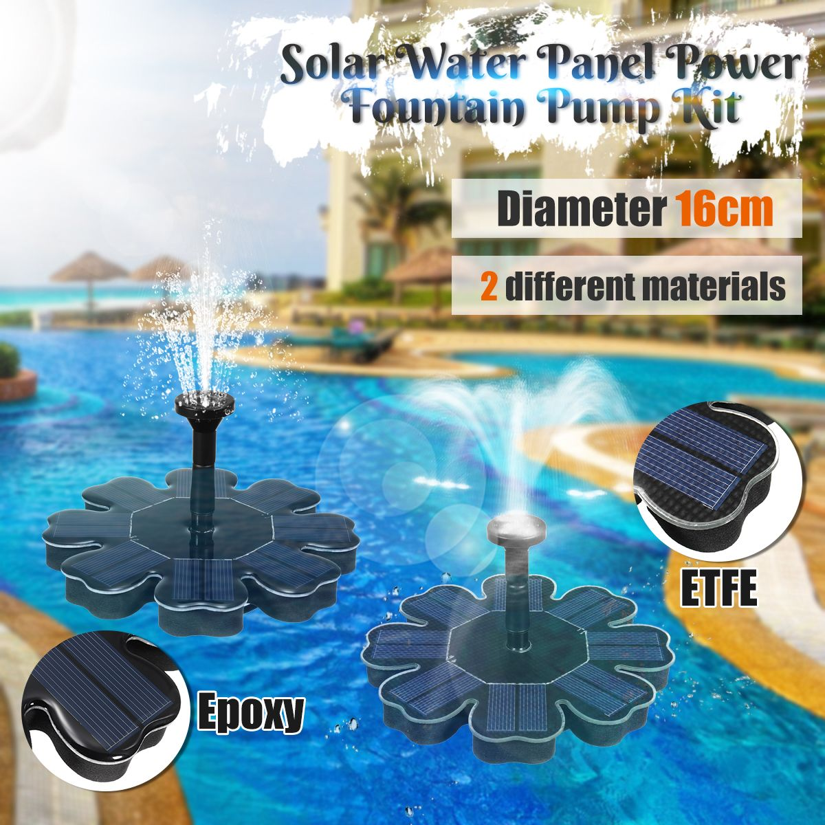 Solar Fountain Pump Solar Water Fountain Automatic Watering System For Garden Pond Pool Outdoor Plants Drip Irrigation Kits
