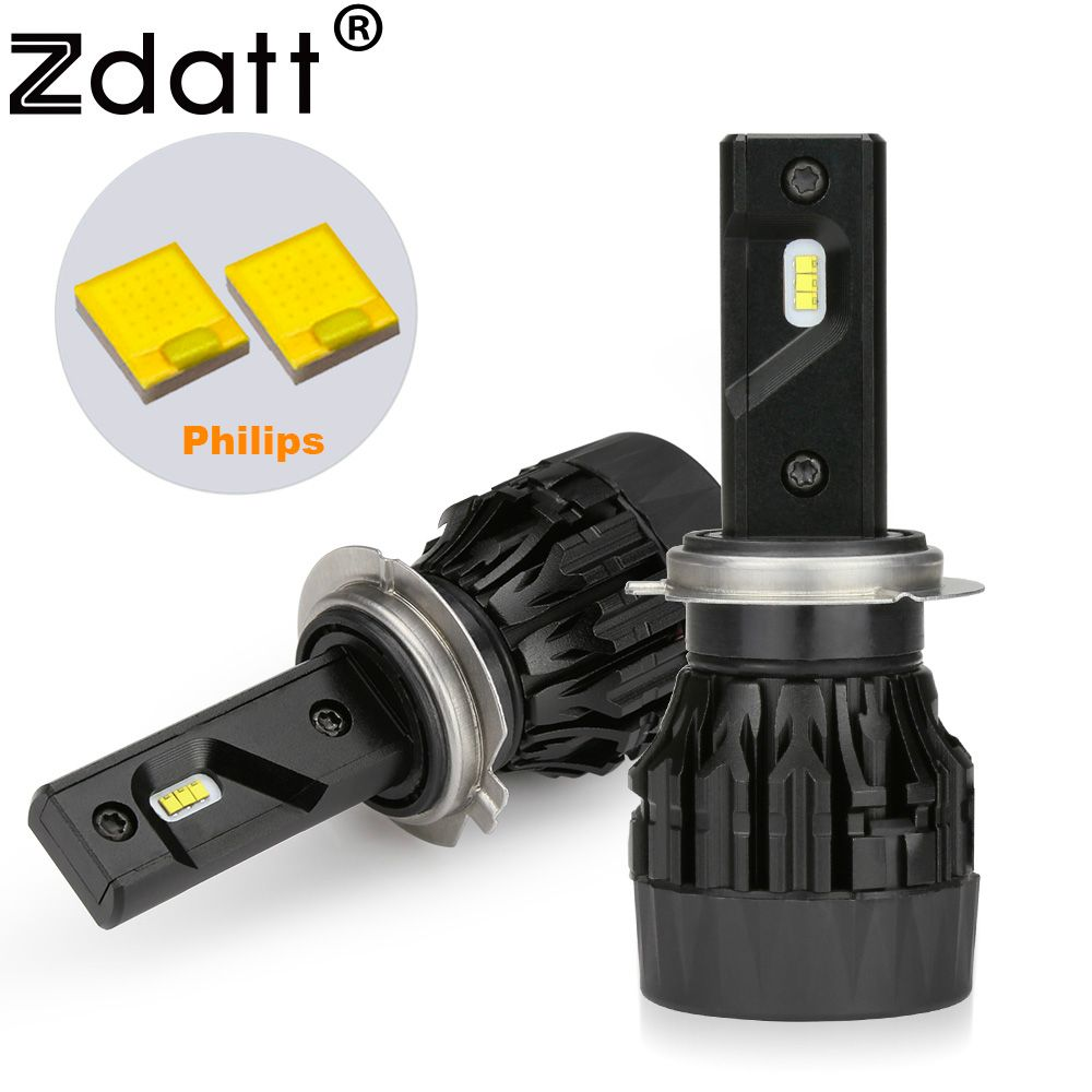 Zdatt Headlight Bulbs H4 H7 H11 H1 9005 9006 HB3 HB4 H8 H9 LED 12V Car Lamp 80W 8000Lm for Philips Chips Auto Fog Lights 6000K