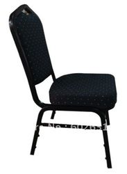 Hot sale black finish painted stacking steel banquet chair LUYISI1030black